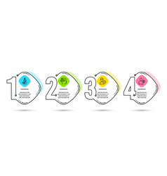 Income money add person and messages icons user vector