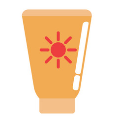 Isolated sunscreen icon vector