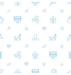 Life icons pattern seamless white background vector