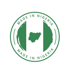 made in nigeria round label vector image