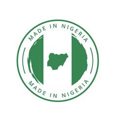 Made in nigeria round label vector