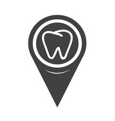 map pointer tooth icon vector image