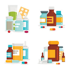 medical drug for healthcare vector image