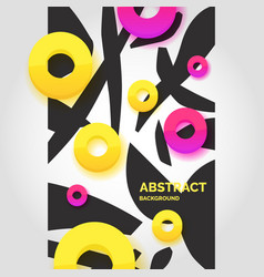 modern abstract art geometric background in flat vector image