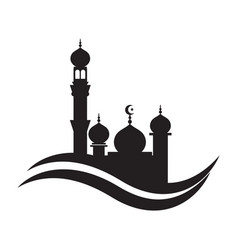 mosque icon design template mosque vector image
