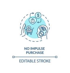No impulse purchase concept icon vector