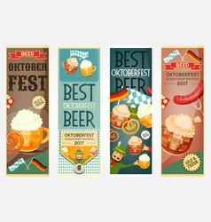 oktoberfest beer festival banners set vector image