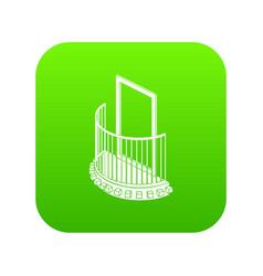 one door balcony icon green vector image