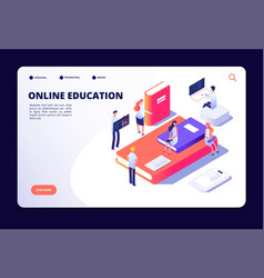 online education isometric internet class vector image
