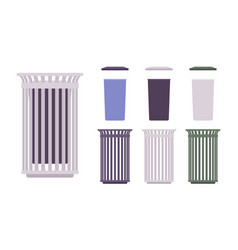 outdoor trash bin set vector image