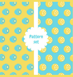 Patterns set pattern with half of kiwi and half vector