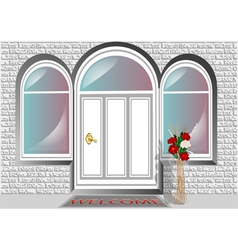 porch door vector image