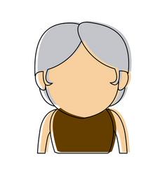 Portrait woman aavatar faceless cartoon person vector