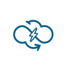 Power cloud logo modern technology design web vector