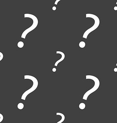 Question mark sign icon Help symbol FAQ sign vector image