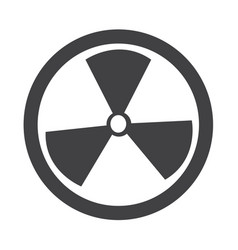 radioactivity sign icon vector image