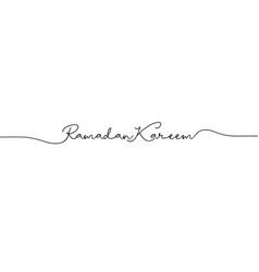 Ramadan kareem handwritten vector