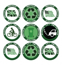recycling collection vector image vector image