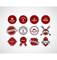 Red label set vector
