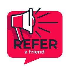 refer friend loudspeaker isolated icon share media vector image