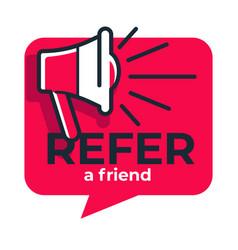 Refer friend loudspeaker isolated icon share media vector