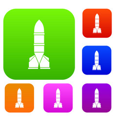 rocket set collection vector image
