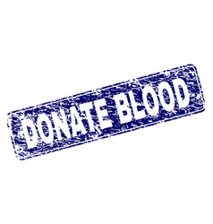 scratched donate blood framed rounded rectangle vector image