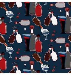 Seamless alco party time pattern vector image