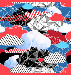 seamless bright pattern from different clouds vector image