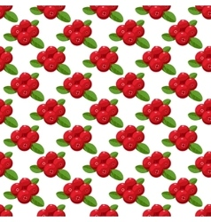 seamless pattern Cartoon cranberries with vector image