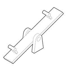 Seesaw icon in outline style vector