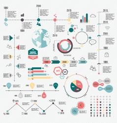 Set of Timeline Infographic Design Templates vector