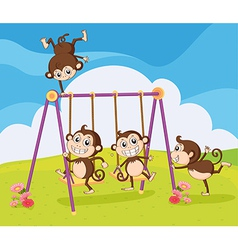 Smiling monkeys vector image