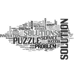 Solution word cloud concept vector