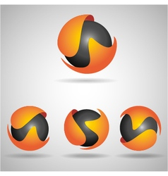 Sphere orange vector