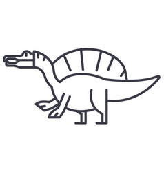 spinosaurus line icon sign vector image