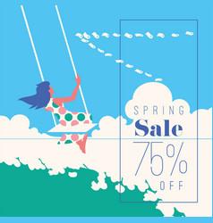 spring sale banner sale poster sale flyer 75 vector image
