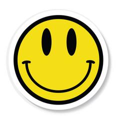 Sticker vinyl smiley face vector