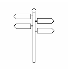Street sign icon outline style vector