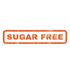 Sugar Free Rubber Stamp vector