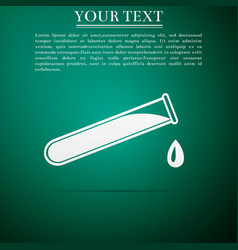 test tube and flask - chemical laboratory test vector image