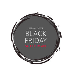 total sale mega offer black friday round sticker vector image