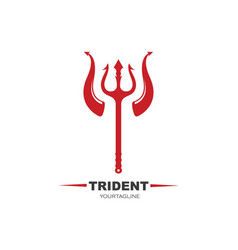 Trident and horn logo template icon vector