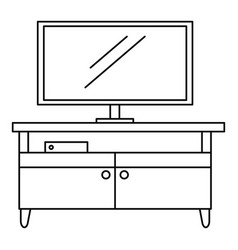 Tv home cinema icon outline style vector