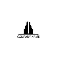 twin tower logo vector image