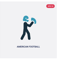 Two color american football player icon from vector
