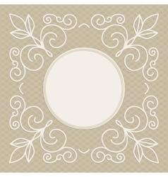 wedding invitation design template - decorative vector image