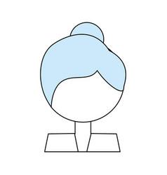 Woman profile cartoon vector