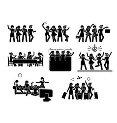 women hanging out with a group best friends vector image