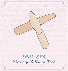 Wooden tool for Thai massage vector image